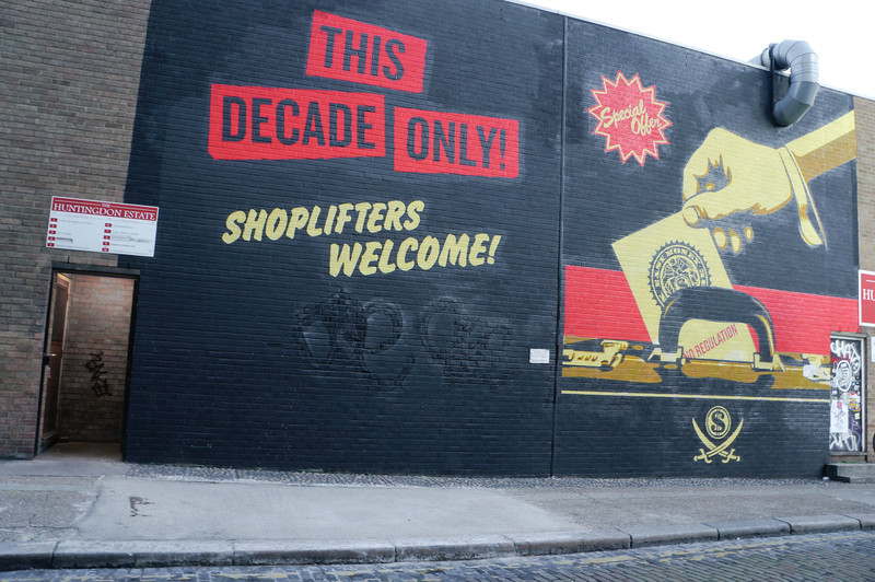 London street art by Shepard Fairey
