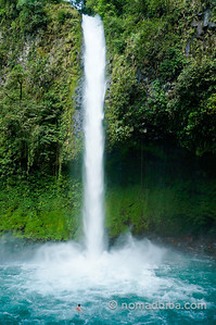 Waterfall La Fortuna in Costa Rica