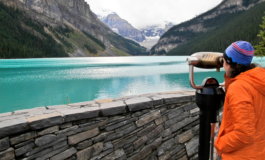 Admiring Lake Louise in Canada