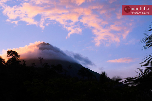 Sunset at Arenal volcano in La Fortuna, Costa Rica