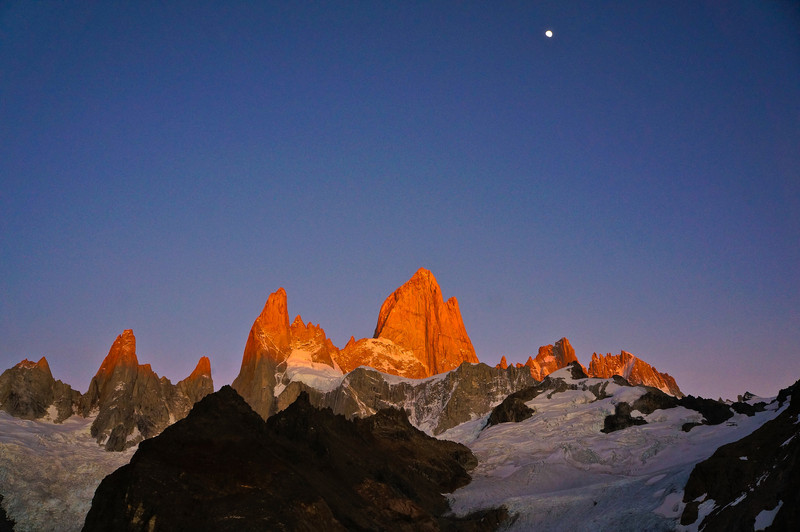 Fitz Roy at sunrise in Los Glaciares NP, Argentina