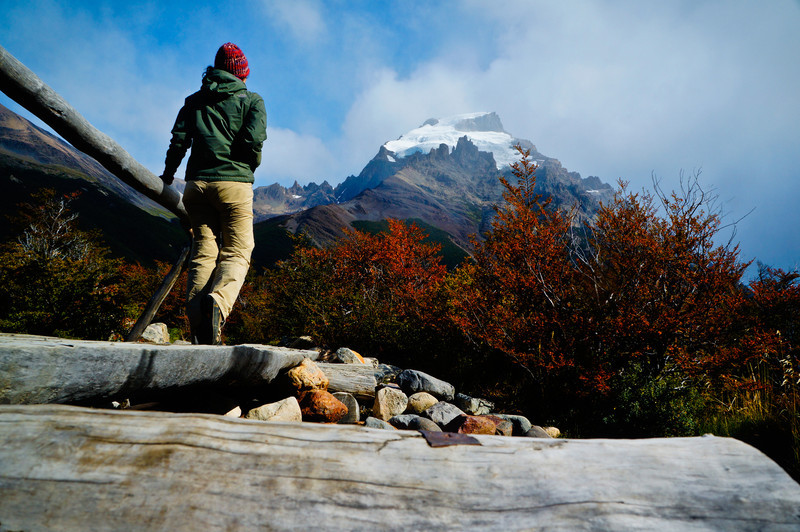 Admiring the fall colours in El Chaltén, Argentina