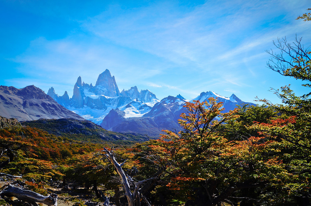View of Fitz Roy in El Chalten, Argentina