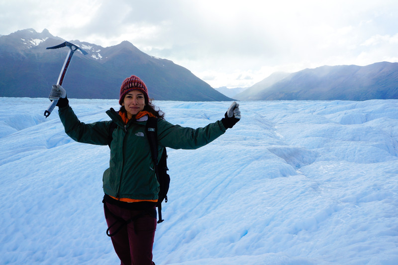 Me on the Perito Moreno glacier in Argentina