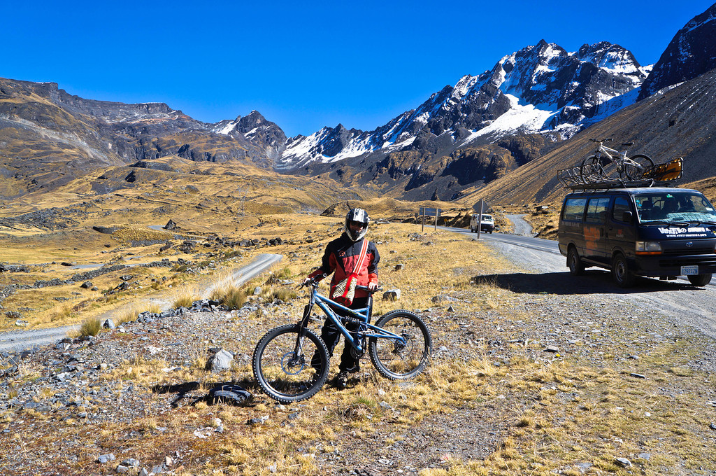 Biking the death Road in La Paz, Bolivia