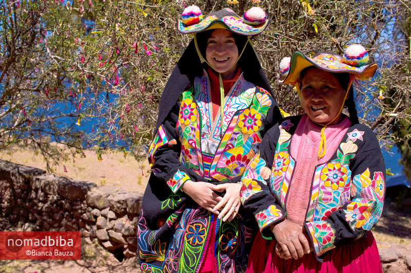 Lake Titicaca: typucal costumes in Capachica