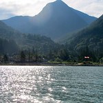Arriving to the dock in Anvil Island, Howe Sound BC (Canada)