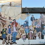 "Detail from the mural ""The Thirty-Three Metre Collage"" in Chemainus BC, Canada