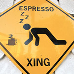 Coffee place sign in Chemainus BC, Canada