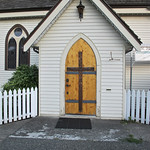 Church door in Chemainus BC, Canada
