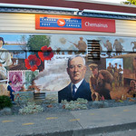 "Mural ""Letters From the Front"" in Chemainus BC, Canada