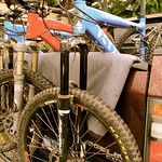 Mountain bikes ready for Half Nelson in Squamish BC (Canada)