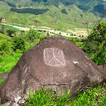 Petroglyph near Yolomb (Antioquia), Colombia