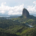 El Peñol, the huge monolith near Guatapé in Colombia