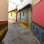 A colorful alleyway in Guatapé, Colombia