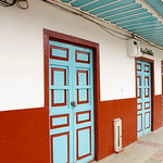 Colorful doors in Salento (Quindio), Colombia