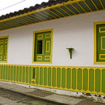 A typical colorful house in Salento (Quindio), Colombia