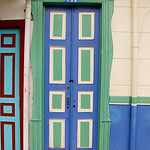 A typical door in Salento (Quindio), Colombia
