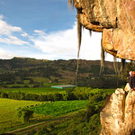 Belaying in Suesca, Colombia