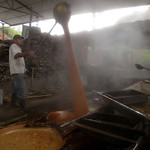 Working the molasses at Trapiche Gualanday near Yolombó, Colombia