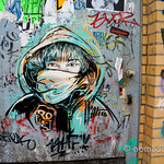 Street art by Alice Pasquini in Berlin