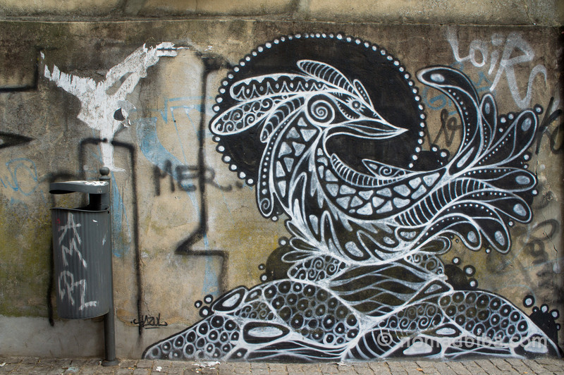 Hazul Street art in Porto, Portugal