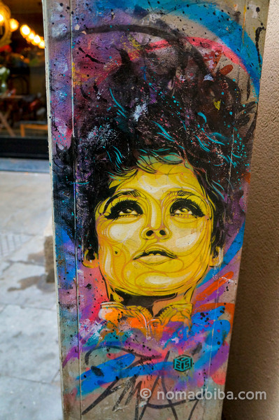 C215 stencil art in Barcelona