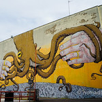 Octopus mural by Blu & Ericailcane