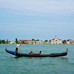 Gondolier and lovers in Venice