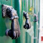 Door knockers in Sintra, Portugal
