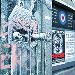 Street art by Phlegm in London, UK