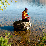 Enjoying my breakfast on a rock at Skaha Lake, Penticton B.C.