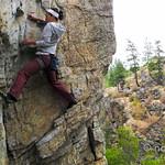 Rock climbing in Skaha, near Penticton BC