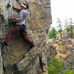 Rock climbing in Skaha, near Penticton BC