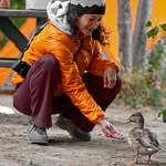 Feeding my new friend near Penticton B.C.