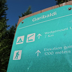 Sign for Wedgemount Lake For the story check out:  Full Moon Mission Up Wedgemount