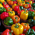Loads of peppers at Jean Talon Market in Montreal
