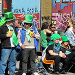 Spectators waiting for the parade to start For the story, check out my post: Saint Patrick's Parade in Montreal