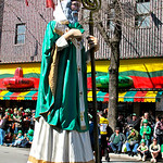 Saint Patrick leading the parade
