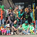 Spectators waiting for the parade to start