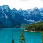 Lake with peaks