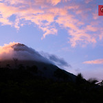 Sunset at Arenal volcano in La Fortuna, Costa Rica