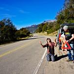 Flat tire near Bariloche, Argentina