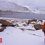 Me at Laguna Negra in Bolivia