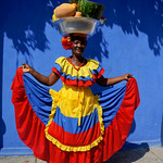 Palenquera in Cartagena, Colombia