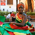 Dancer in Cartagena, Colombia