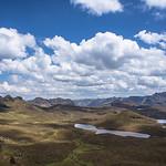 Admiring the view at El Cajas National Park in Ecuador